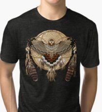 Red-Tail Hawk Dreamcatcher Mandala Tri-blend T-Shirt