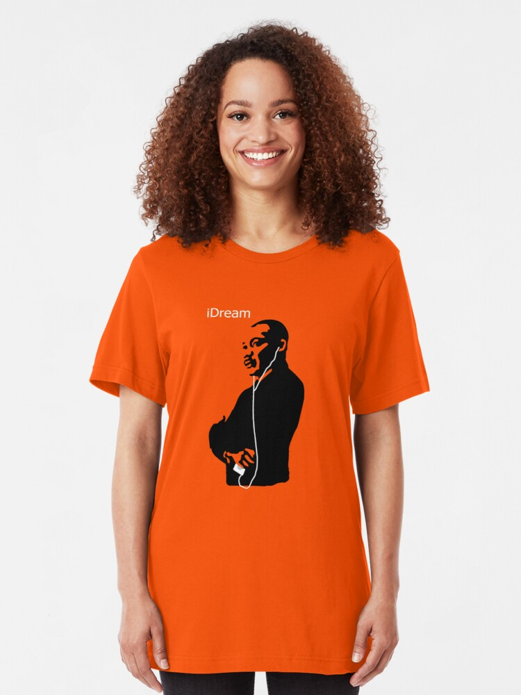 Alternate view of iDream - Martin Luther King Slim Fit T-Shirt