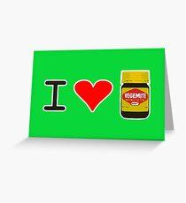 I Love Vegemite Greeting Card