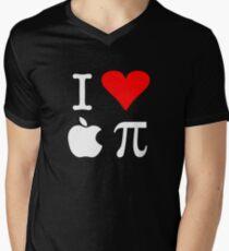 I Love Apple Pi Men's V-Neck T-Shirt