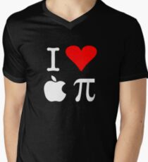 I Love Apple Pi Men's V-Neck T-Shirt