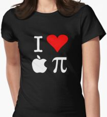 I Love Apple Pi Women's Fitted T-Shirt