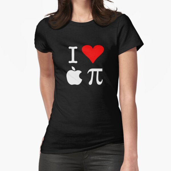 I Love Apple Pi Fitted T-Shirt