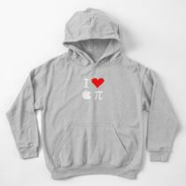 I Love Apple Pi Kids Pullover Hoodie