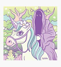 Nazgul the pink rider Photographic Print