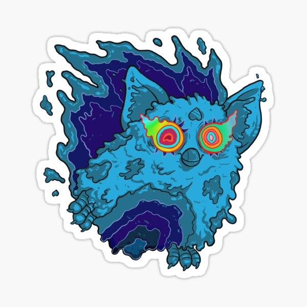 Slimy Ghost Fauxby in Blue Sticker
