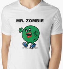 Mr Zombie Mens V-Neck T-Shirt