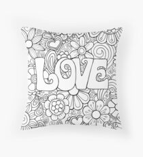 The colour of love Throw Pillow