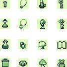 GameBoy RPG Item Sticker Set 1 by Nina Buie