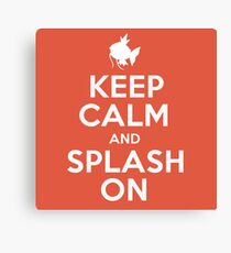 Pokemon - Keep Calm and Splash On - Magikarp Design Canvas Print