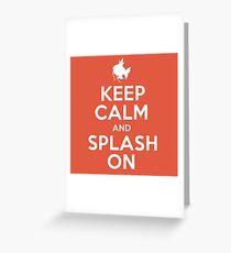 Pokemon - Keep Calm and Splash On - Magikarp Design Greeting Card