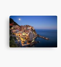 Blue hour in Manarola  Canvas Print