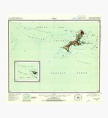 USGS TOPO Map Alaska AK Kiska 361051 1951 250000 Photographic Print
