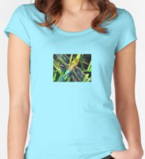Blue Dragonfly Wings Women's Fitted Scoop T-Shirt