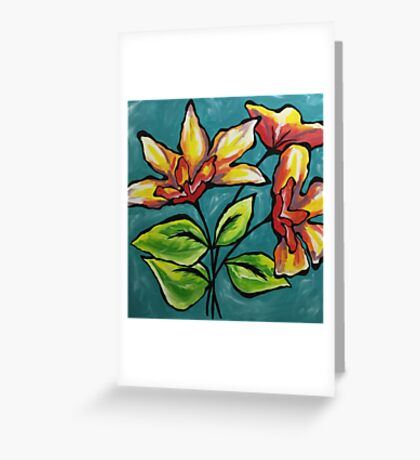 Tropical flower bliss Greeting Card