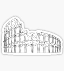 Geometric Colosseum  Sticker