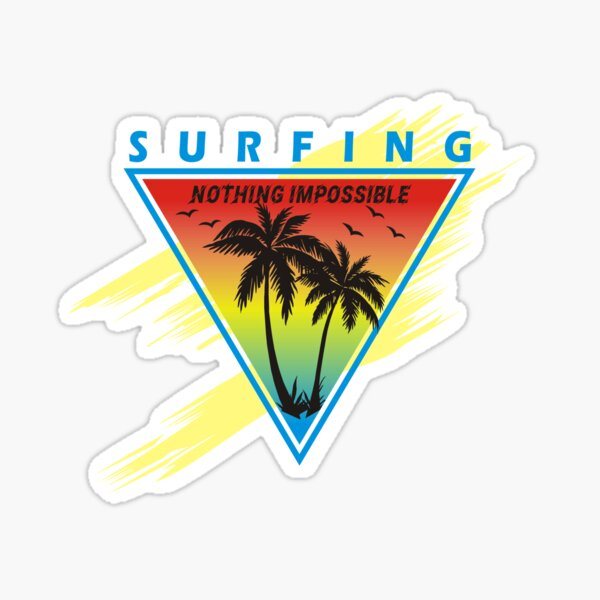 Surfing, surf, art, design, simplex's Sticker