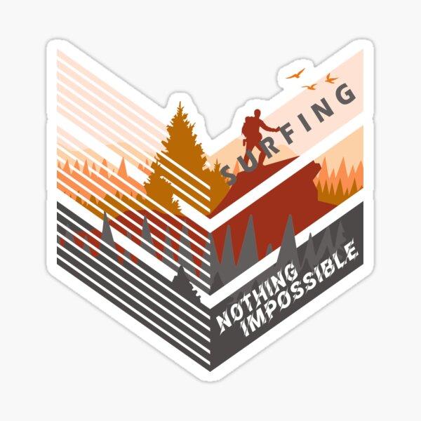 Surfing, Climbing, Travel, Art, Design, Mountain, Simplex's Sticker