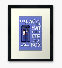 The Cat in the Hat and a Tie in a Box Framed Print