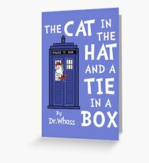 The Cat in the Hat and a Tie in a Box Greeting Card