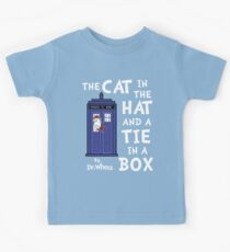 The Cat in the Hat and a Tie in a Box Kids Tee