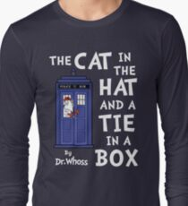 The Cat in the Hat and a Tie in a Box Long Sleeve T-Shirt
