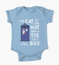 The Cat in the Hat and a Tie in a Box One Piece - Short Sleeve