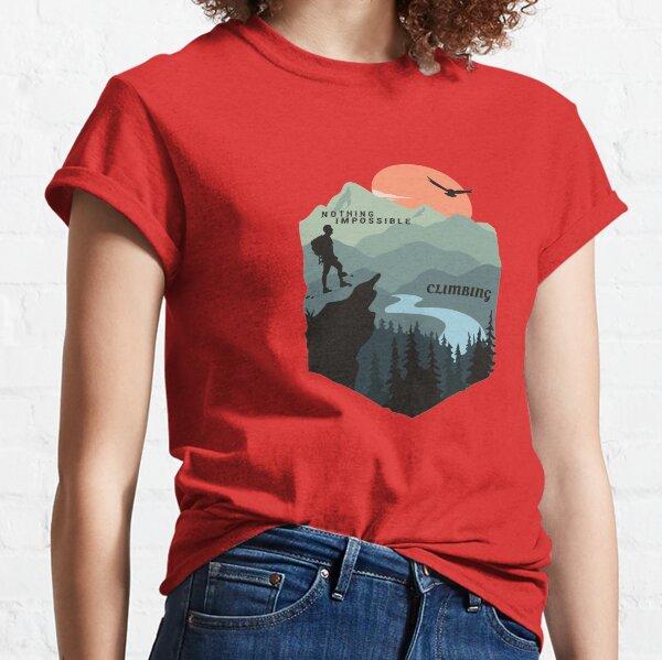 Climbing, Mountain, Surfing, Art, Design, illustration, Simplex's Classic T-Shirt