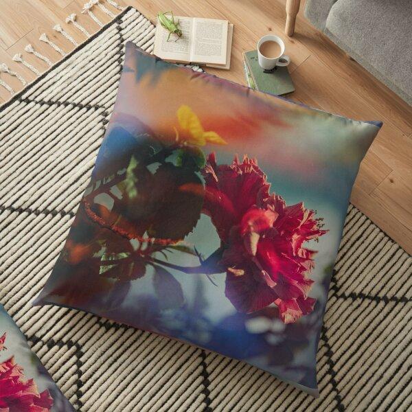 The Mystic Flower Floor Pillow