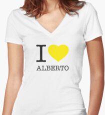I ♥ ALBERTO Women's Fitted V-Neck T-Shirt
