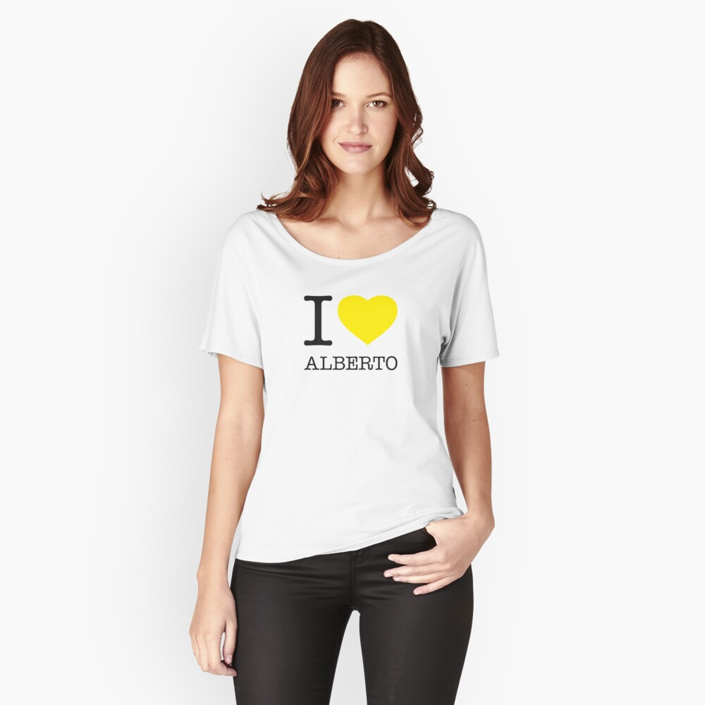 I ♥ ALBERTO Women's Relaxed Fit T-Shirt Front