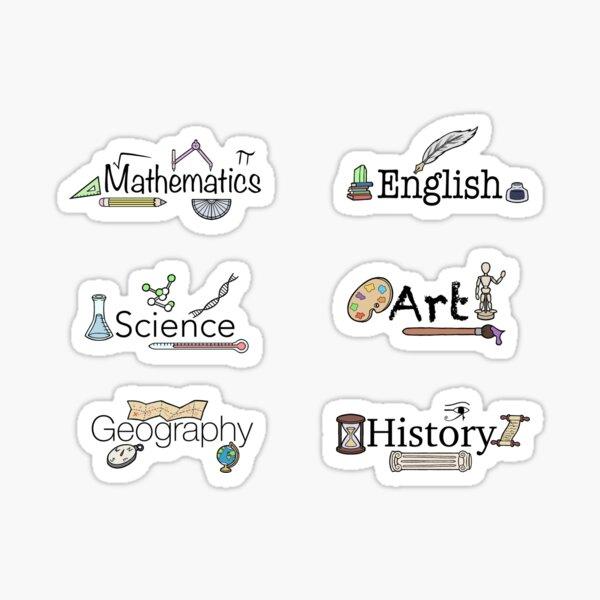 Schulfach-Aufkleberpaket - 1 Sticker