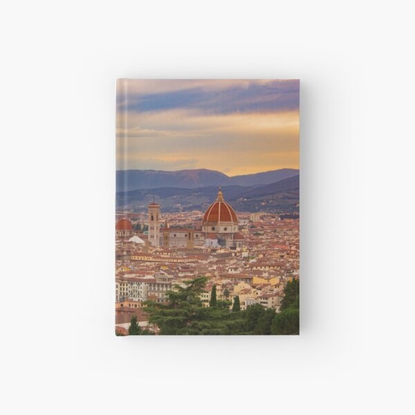 Sunset over Florence Hardcover Journal