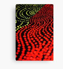 Close Up Dot Painting Canvas Print