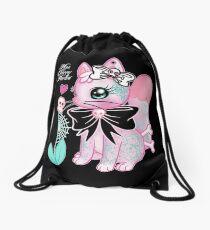Tattooed Kitty Drawstring Bag