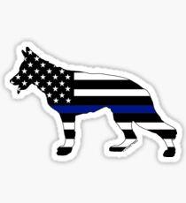 German Shepherd: Thin Blue Line Sticker