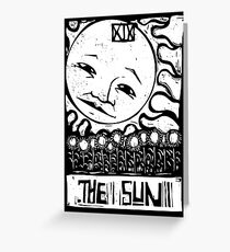 The Sun  - Tarot Cards - Major Arcana Greeting Card