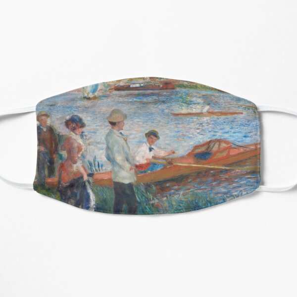 Oarsmen at Chatou (1879) by Pierre-Auguste Renoir Flat Mask
