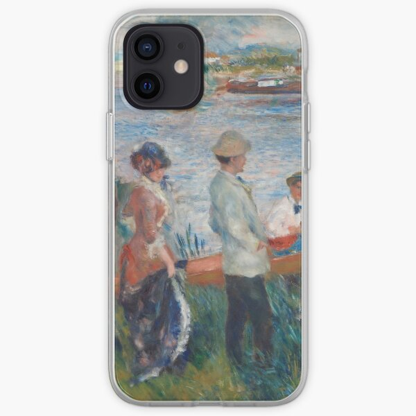 Oarsmen at Chatou (1879) by Pierre-Auguste Renoir iPhone Soft Case