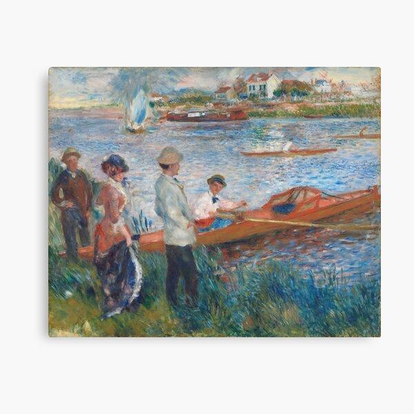 Oarsmen at Chatou (1879) by Pierre-Auguste Renoir Canvas Print