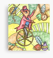 Mouse on Penny Farthing Canvas Print