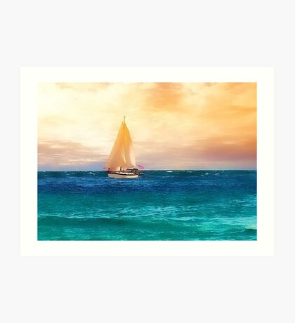 Sailing in the Sunset Art Print