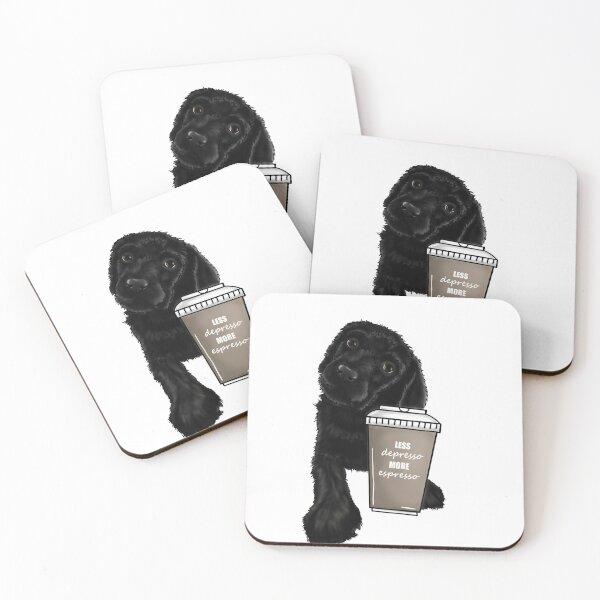 Less Depresso, More Espresso Coasters (Set of 4)