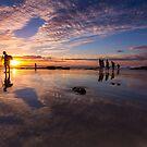 Snapper Rocks Sunset by D Byrne