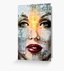 White Marilyn Greeting Card