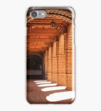 Sunlit arches in the Convent of La Merced, Cusco, Peru iPhone Case/Skin