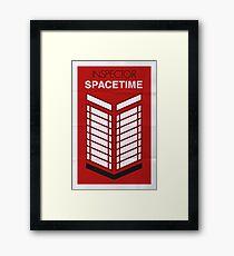 Inspector Spacetime Framed Print