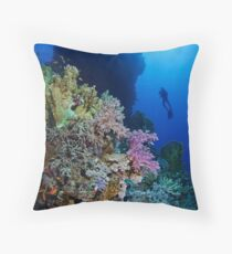 Underwaterworld - Habili Etnin Arug  Throw Pillow