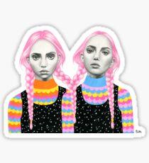 Plaited Twins Sticker