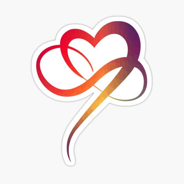 INFINITY HEART Sticker